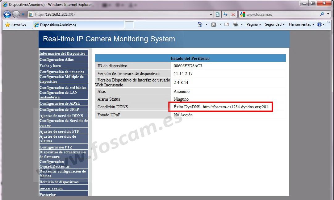 Configuración de cámaras IP: DDNS